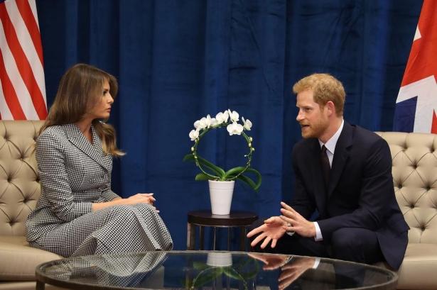 мелания трамп и принц гарри фото