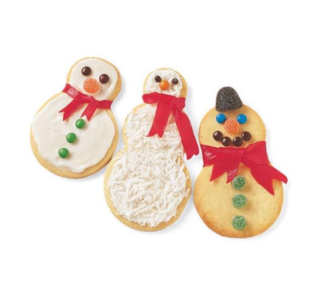"""Печенье """"Сахарные снеговики"""" - фото №1"""