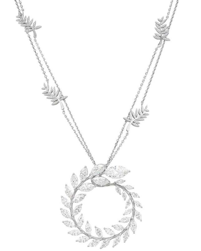 Колье с бриллиантами от Chopard из «зеленой» коллекции Green Carpet 2015  http://q99.it/EGp8ycp