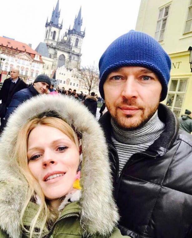 Ольга Фреймут с мужем