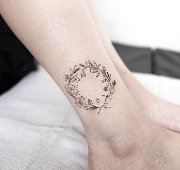 татуировка часы, татуировка время