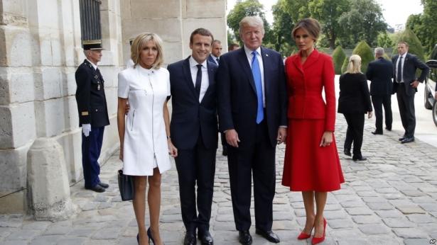 трамп макрон фото