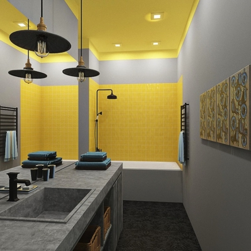 стильная ванная комната фото