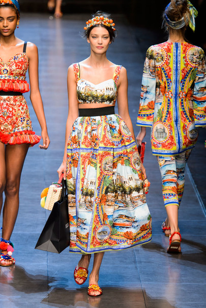 Неделя моды в Милане 2015 фото коллекции Dolce & Gabbana