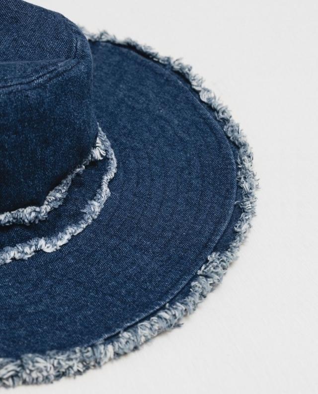 Модные шляпа на лето 2016 джинсовая шляпа