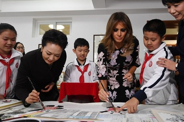 Мелания Трамп в Пекине