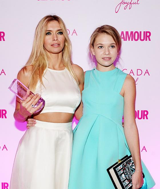 Брежнева с дочкой