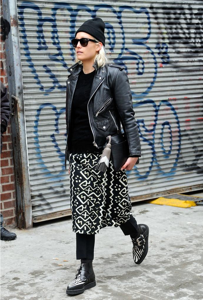 Street style: с чем ность брюки зимой