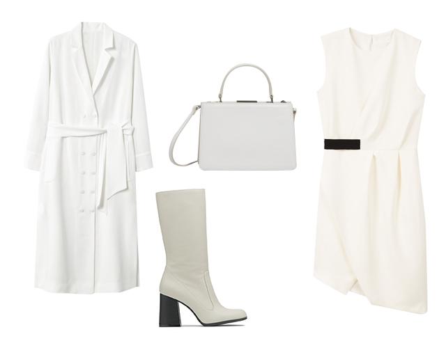 белый, наряд в белом цвете