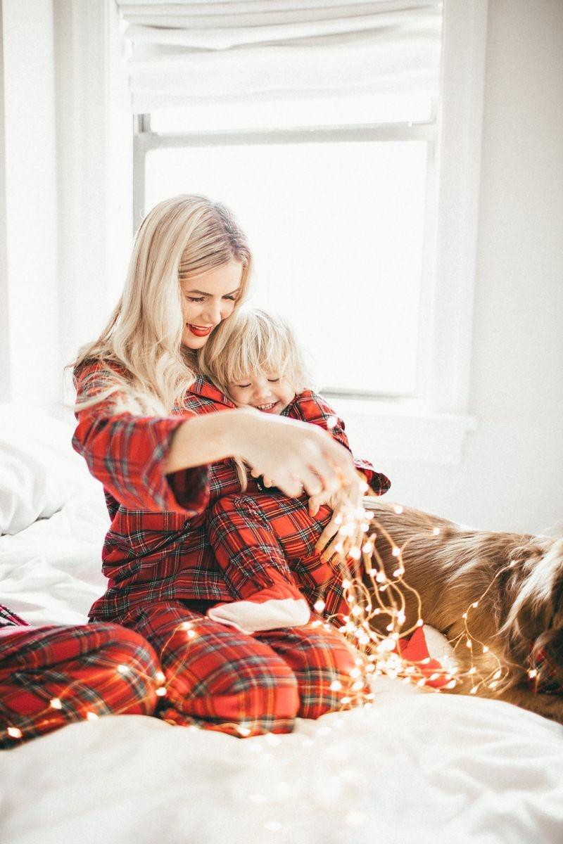 спальня мама с детьми