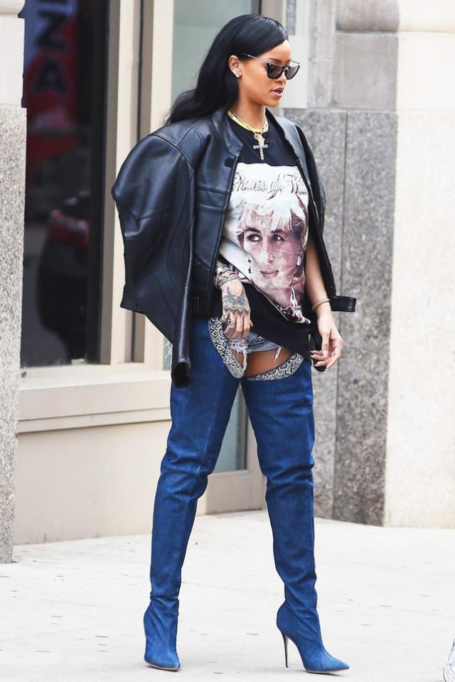 Ботфорты летом: как Ким Кардашьян, Дженнифер Лопес, Рианна и другие звезды носят летние сапоги