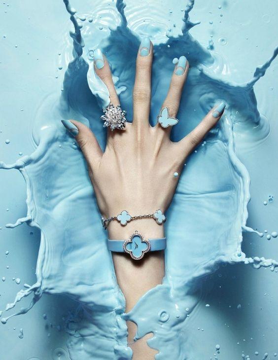 Нежная весна: модный маникюр в голубых тонах (ФОТО 50+) - фото №2