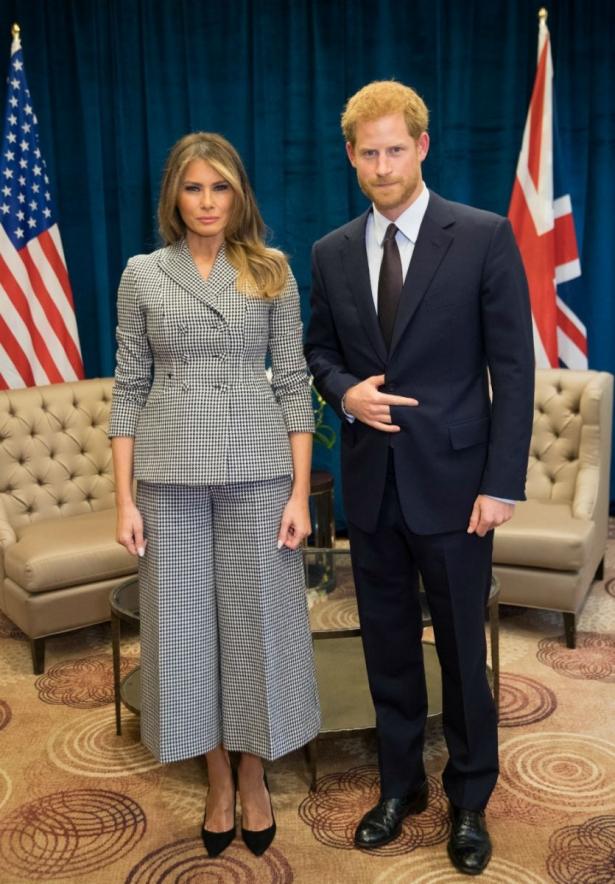 принц гарри и мелания трамп фото