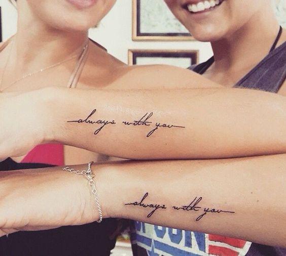 Дань сестринству: лучшие примеры sister tatoo для тебя и твоей подруги - фото №8
