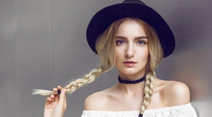 Черная шляпа-федора из натурального льна от бренда AnnaSun