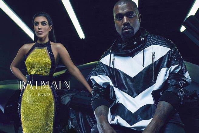 Как Ким Кардашьян и Канье Уэст снялись для Balmain - фото №2