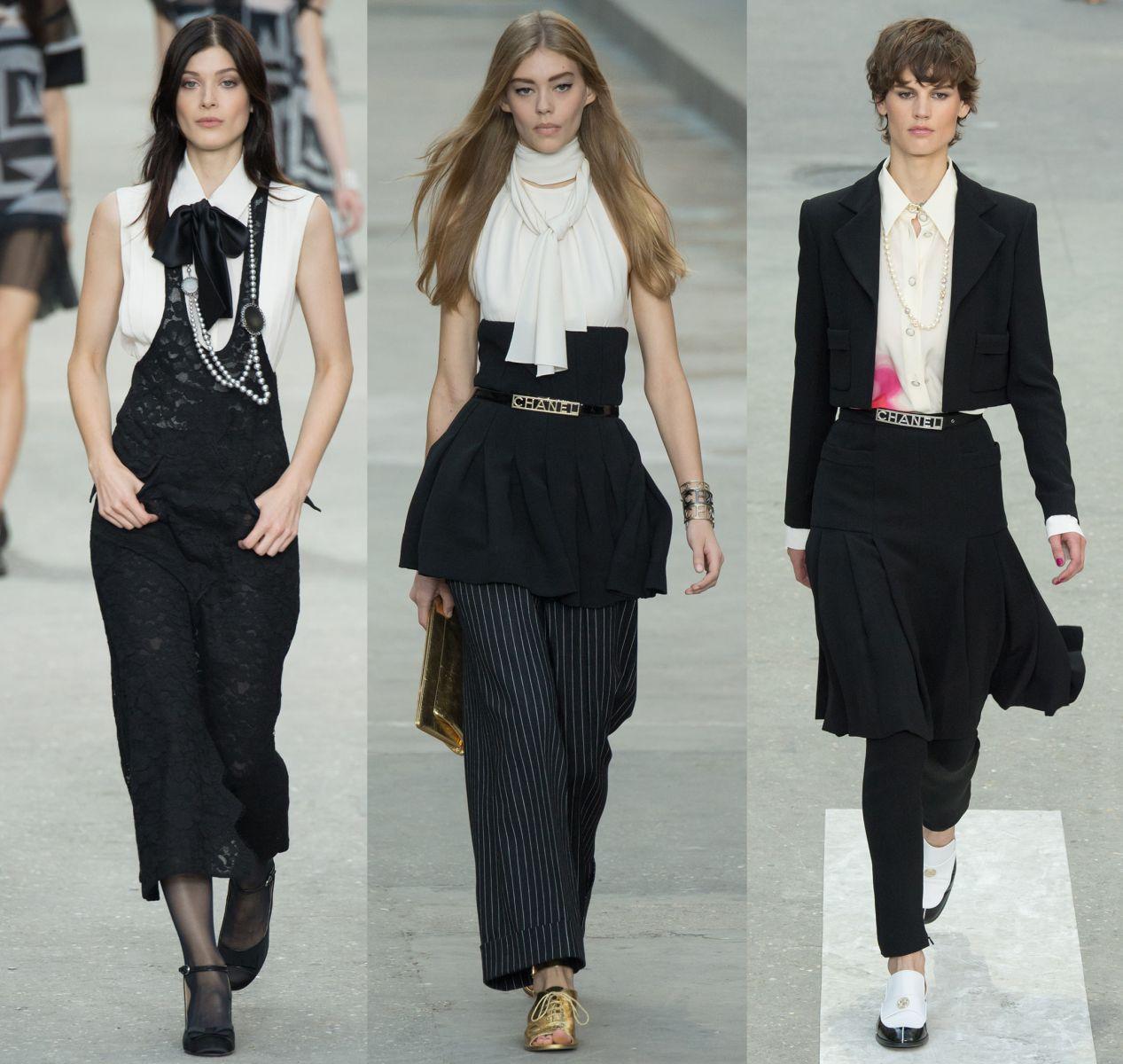 Черно-белые комплекты Chanel - фото №1