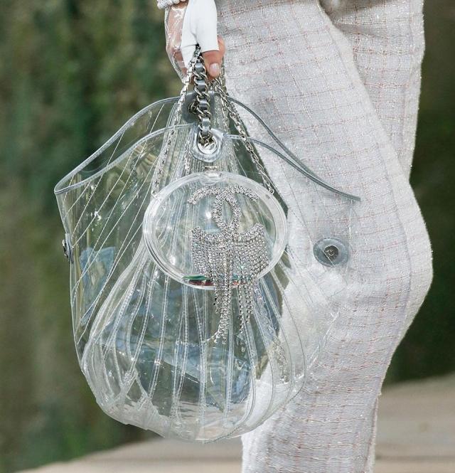 Модный тренд 2018 — пластиковая прозрачная сумка - фото №2