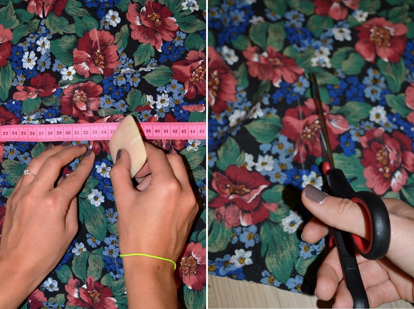 Мастер-класс стилиста: цветочные шорты из бабушкиной юбки - фото №2