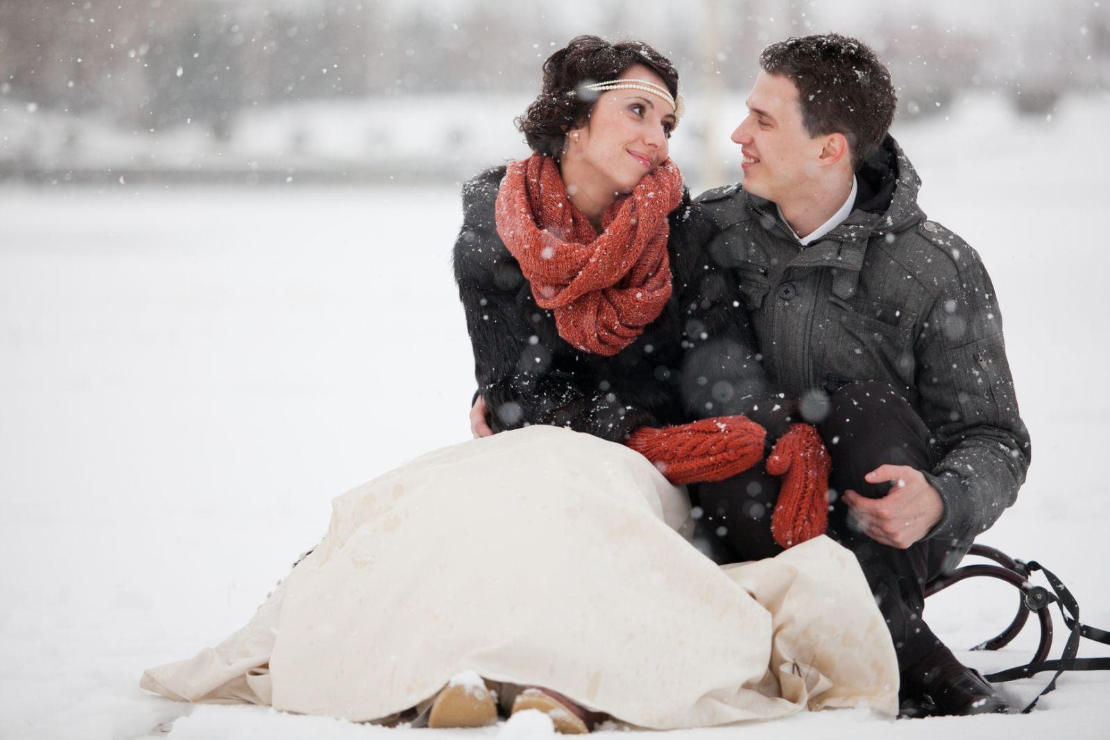 Свадьба зимой: что надеть? - фото №1