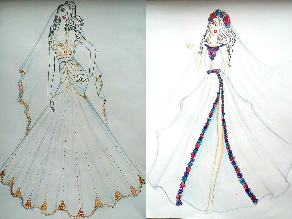 Свадебное платье для Регины Тодоренко. Спецпроект (эскизы+комментарии стилиста) - фото №33