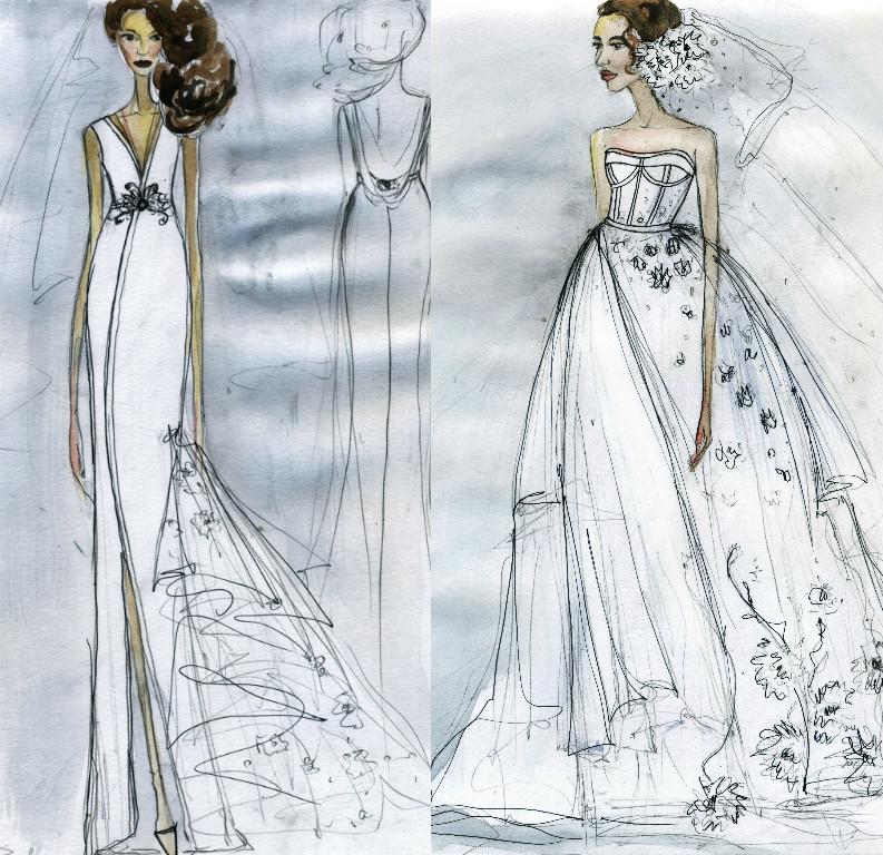 Свадебное платье для Регины Тодоренко. Спецпроект (эскизы+комментарии стилиста) - фото №38