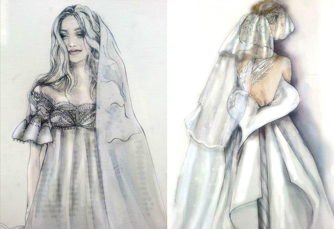 Свадебное платье для Регины Тодоренко. Спецпроект (эскизы+комментарии стилиста) - фото №40