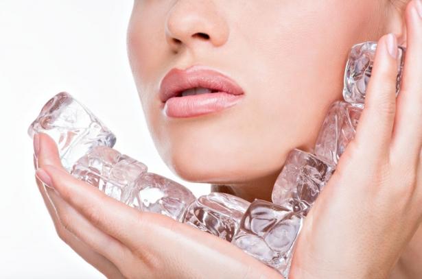 кубики льда для кожи