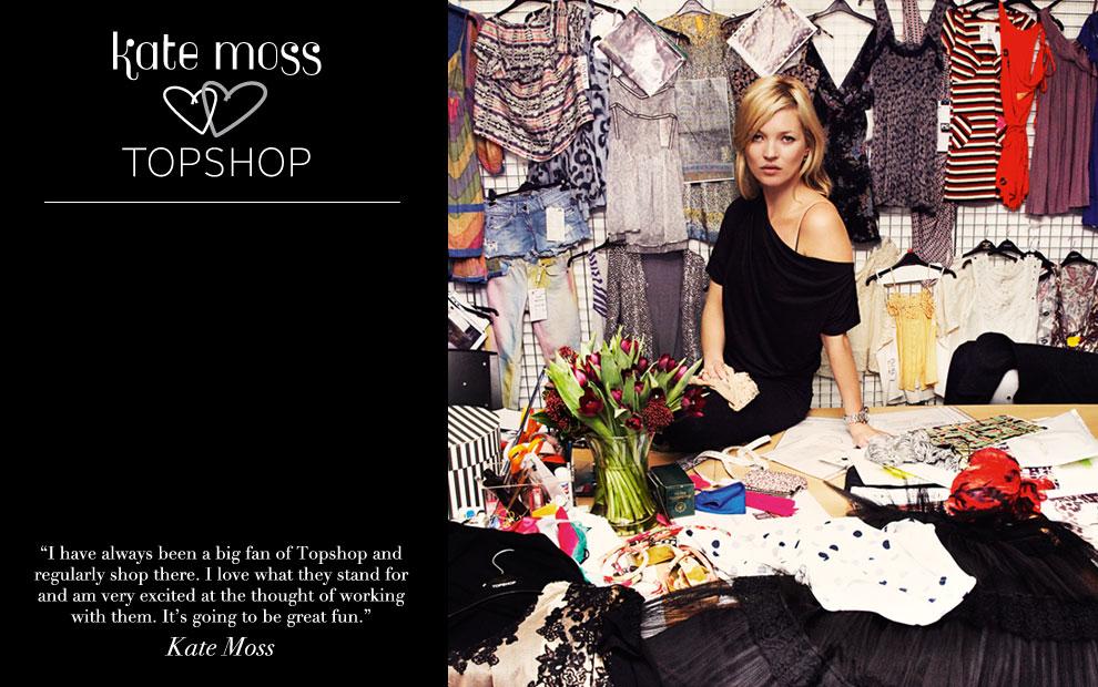 Кейт Мосс работает над новой коллекцией для Topshop - фото №1