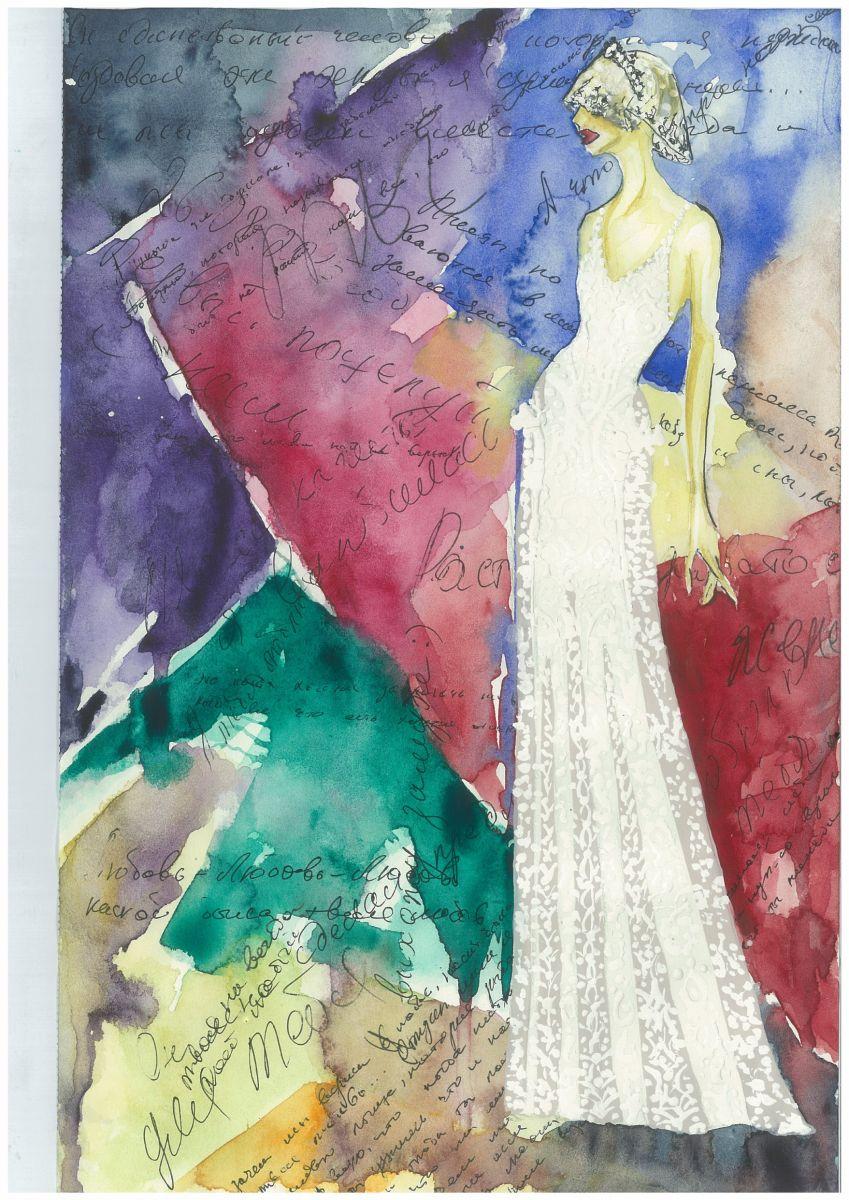 Свадебное платье для Регины Тодоренко. Спецпроект (эскизы+комментарии стилиста) - фото №17