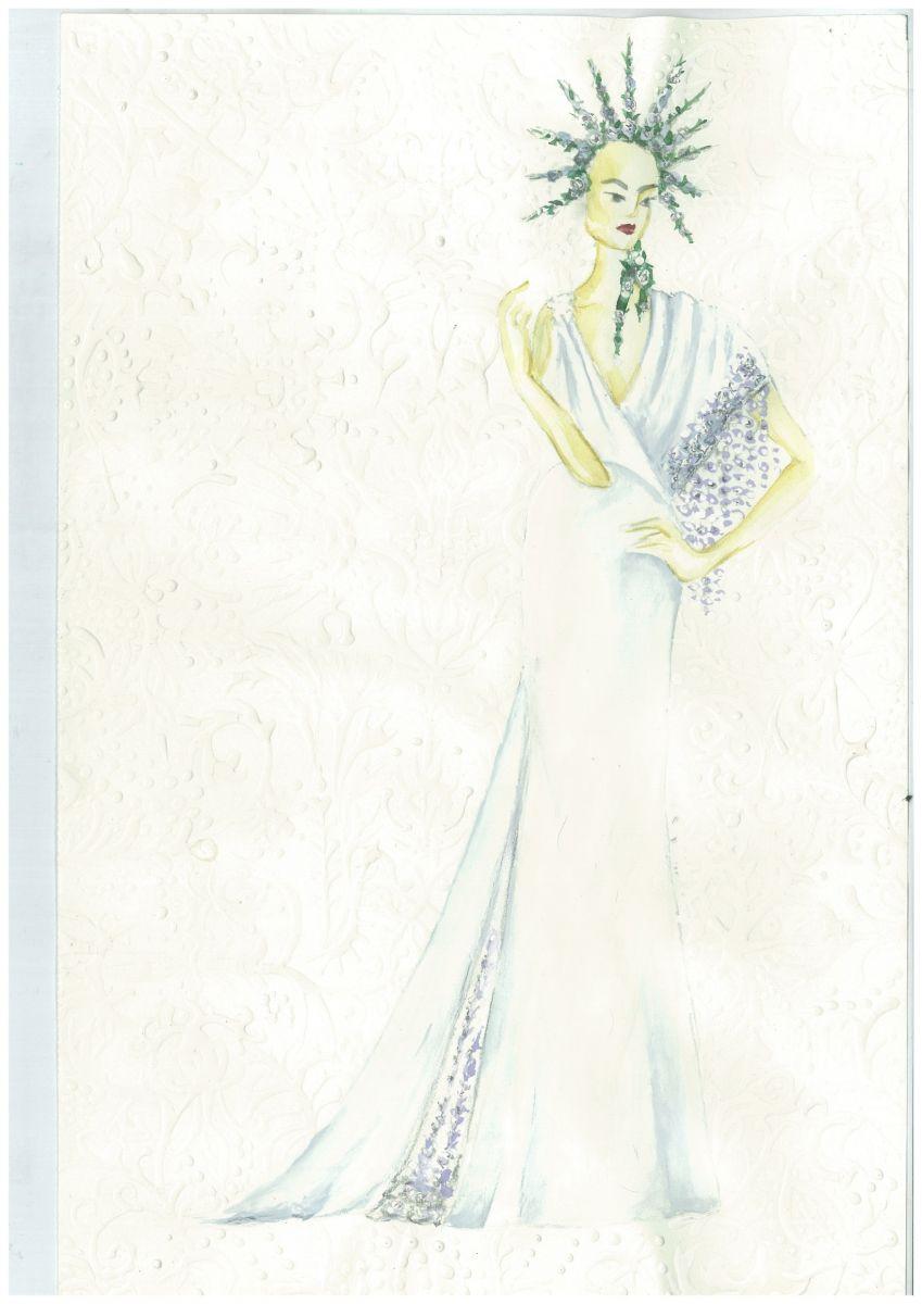 Свадебное платье для Регины Тодоренко. Спецпроект (эскизы+комментарии стилиста) - фото №16