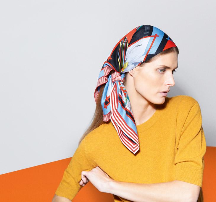 Шелковые платки – как носить? - фото №9