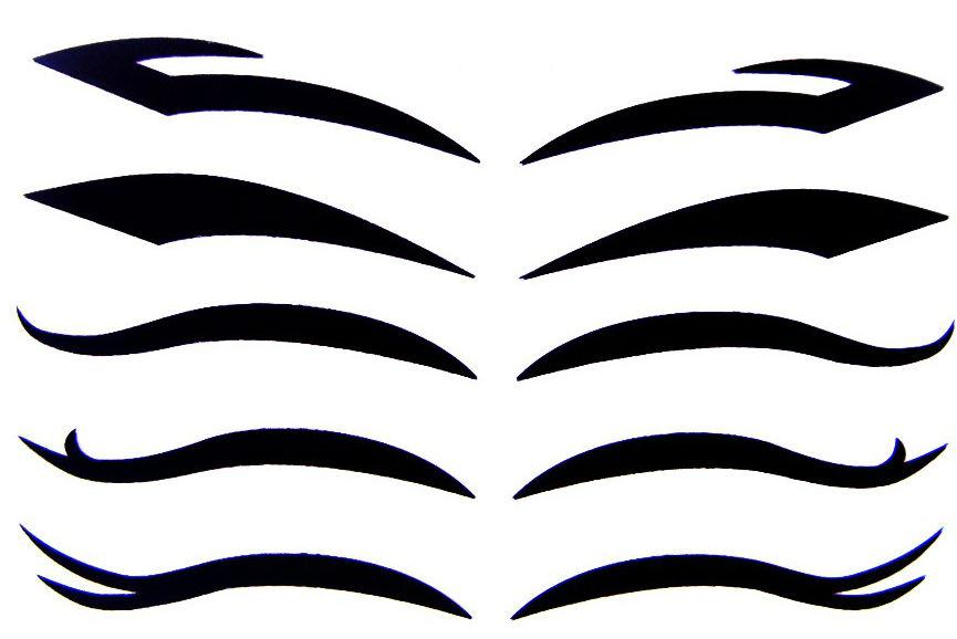 Декоративные наклейки для макияжа: обзор новинок - фото №1