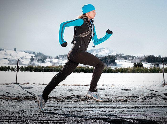 бег в холодную пору года