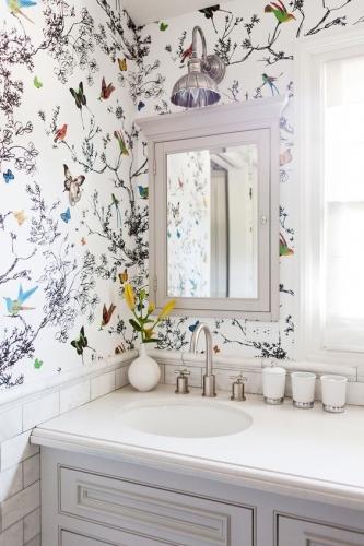 красивые обои для ванной комнаты