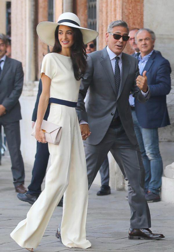Амаль Аламуддин с Джорджем Клуни