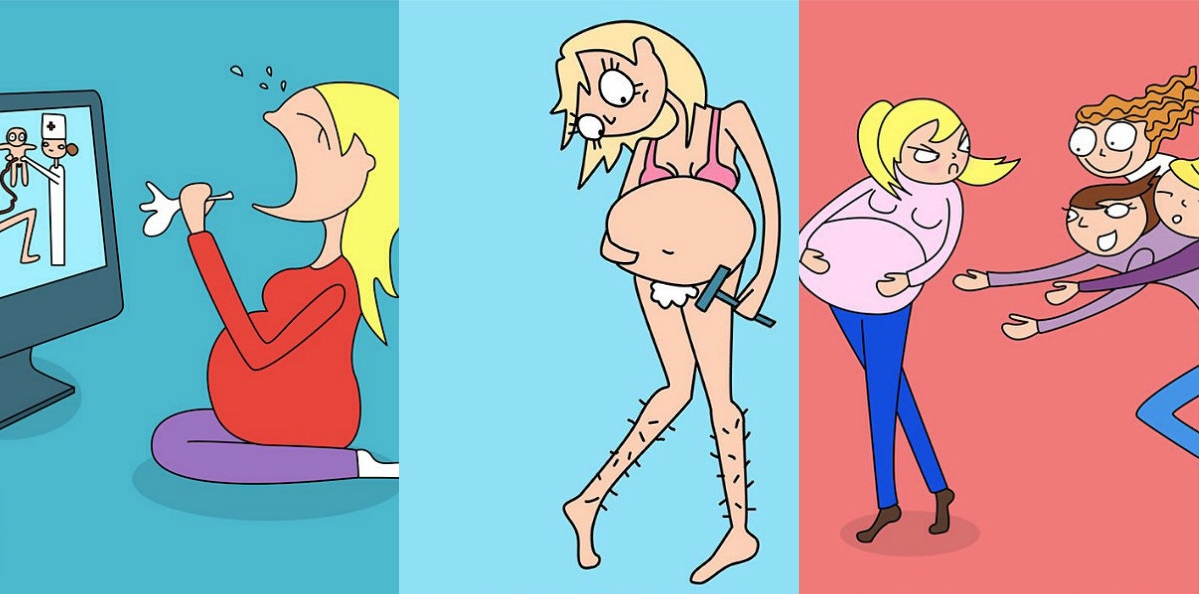 Смешные картинки о беременных