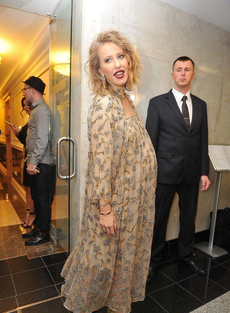 фото беременной ксении собчак роды