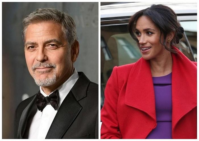 'Она в первую очередь женщина': Джордж Клуни вступился за Меган Маркл