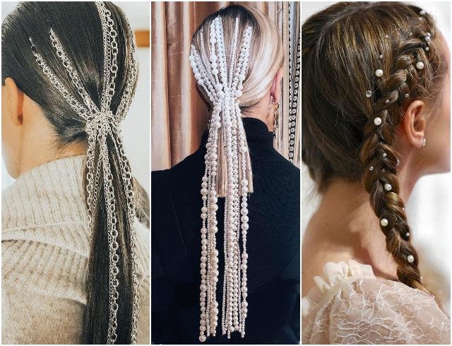 Стразы и цепи вместо заколок: тенденция украшений волос и причесок в 2