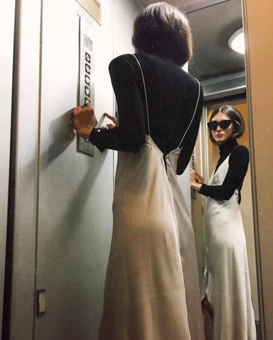 тренды Pinterest 2017 платье-комбинация