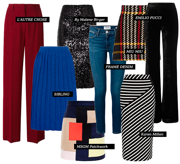 Модные юбки и брюки. Сезон осень-зима 2015-16