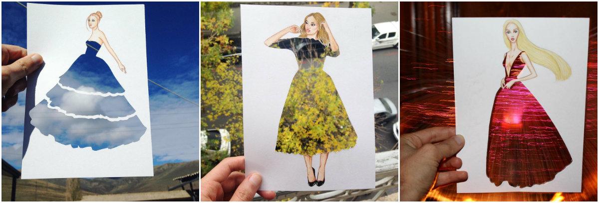 Платье, сотканное из природы: фэшн-иллюстратор создает невероятные эскизы одежды - фото №2