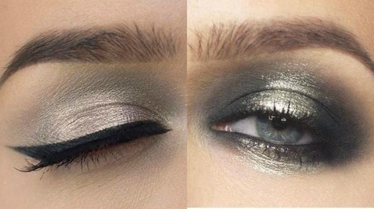 макияж в стиле металлик