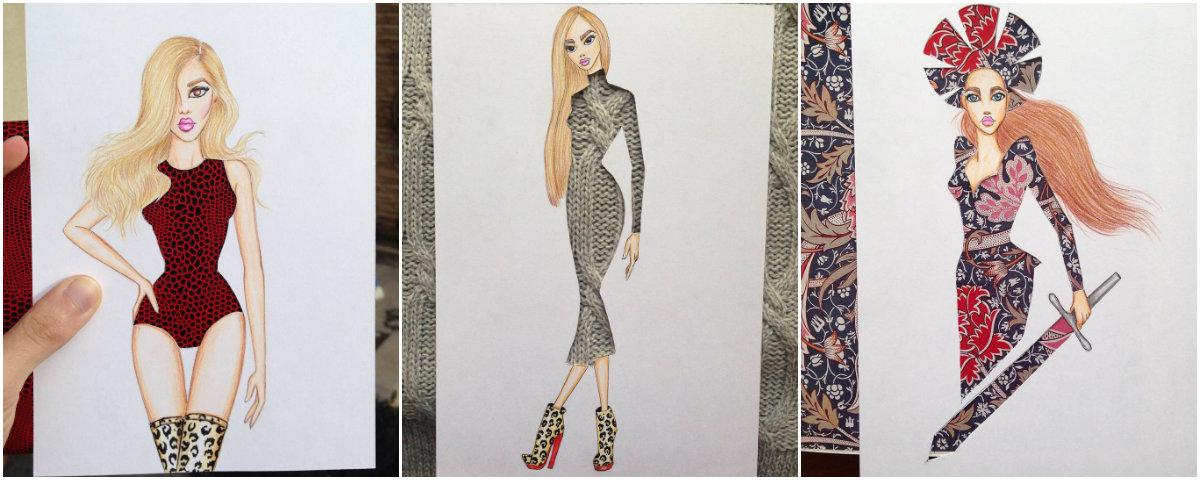 Платье, сотканное из природы: фэшн-иллюстратор создает невероятные эскизы одежды - фото №3