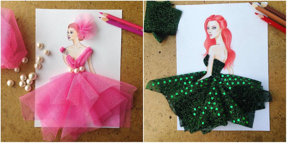 Платье, сотканное из природы: фэшн-иллюстратор создает невероятные эскизы одежды - фото №4