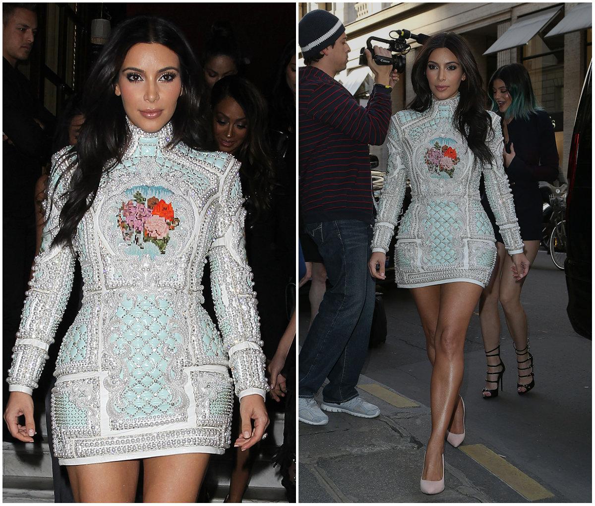 Ксению Бородину уличили в ношении подделки платья, как у Ким Кардашьян - фото №2