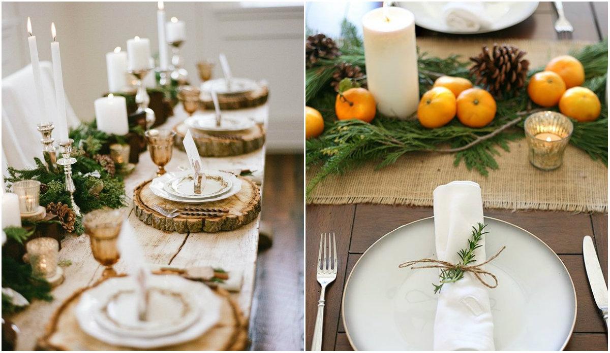 Как украсить стол к Новому году: идеи декора из натуральных материалов - фото №7