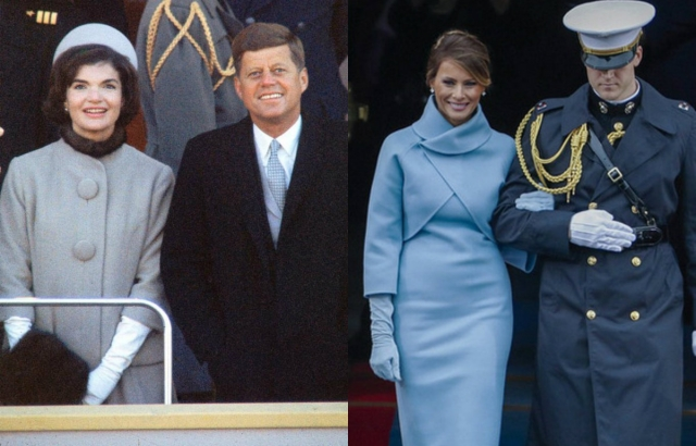 Инаугурация трампа Меланья Трамп скопировала образ Жаклин Кеннеди  фото