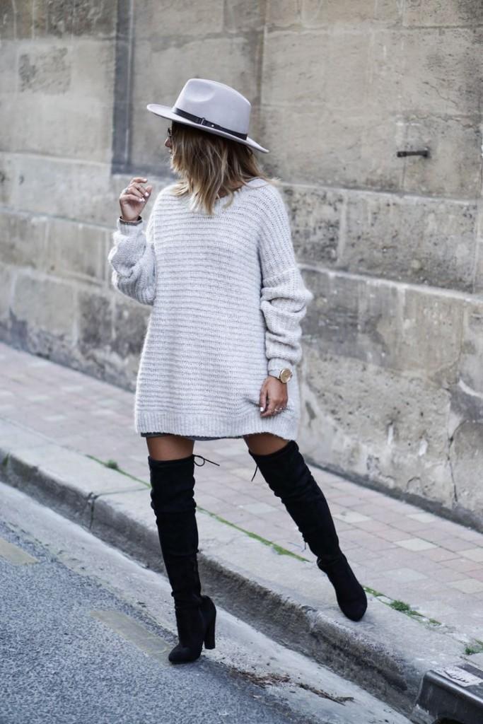 Fashion-гид: с какой верхней одеждой носить объемный свитер зимой